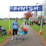 Lauren Tierney at the finish line