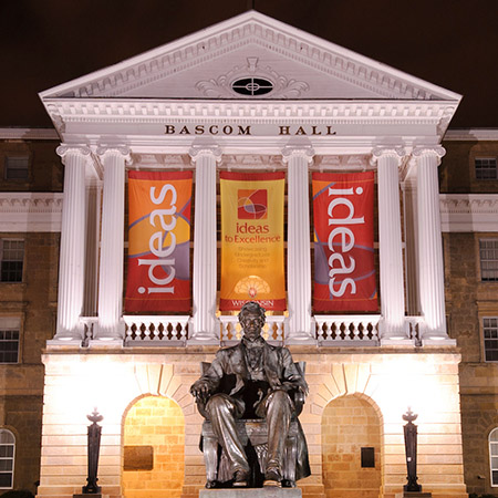 Bascom Hall at night