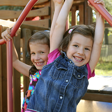 Young girls on playground