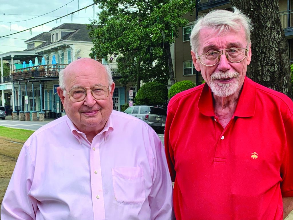 Richard Morse, MD, and Lawrence Connor, MSW near their home in New Orleans.